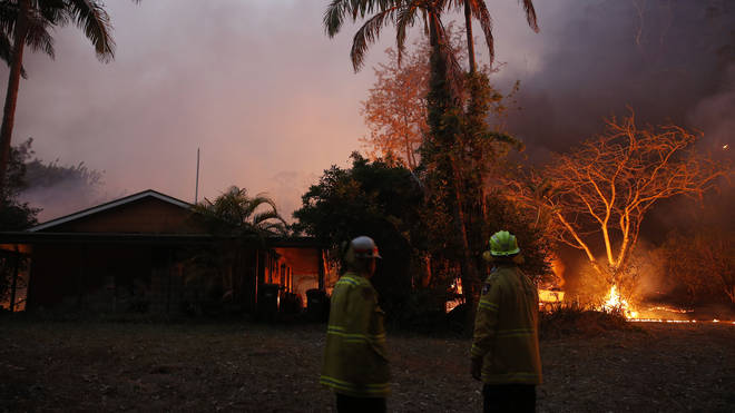 People have been forced to evacuate their homes in the blaze