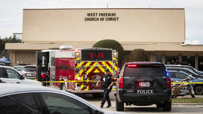 Emergency services gather in the wake of the shooting