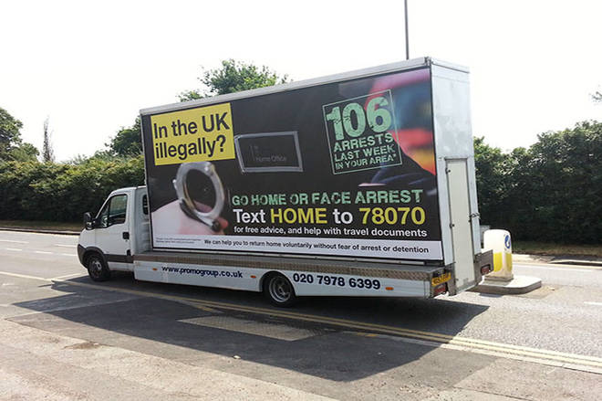 The Home Office vans were reported to the Advertising Standards Authority