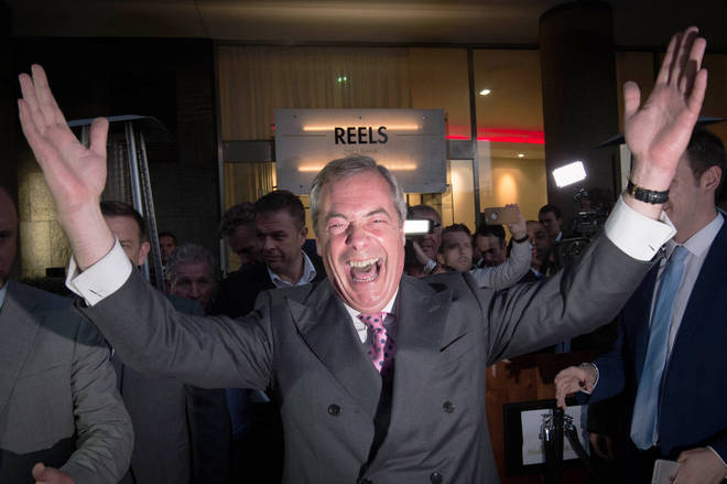 "Nigel Farage said Brexit had given the UK its very own ""Independence Day"""