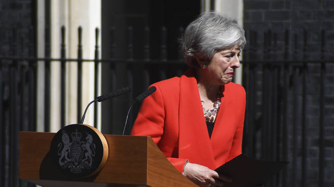 Theresa May was in tears as she announced her resignation