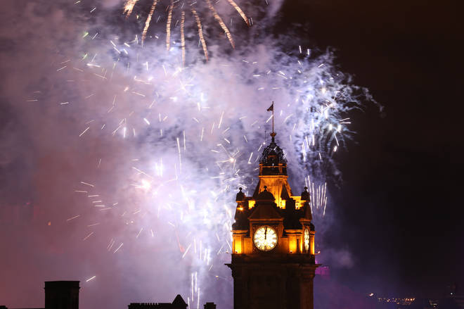 Fireworks will light up the sky at the stroke of midnight