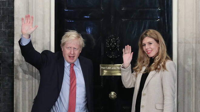 Mr Johnson is currently in Mustique with girlfriend Carrie Symonds