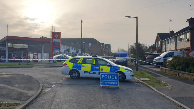 A man and woman have been killed in an alleged double murder in Deryshire