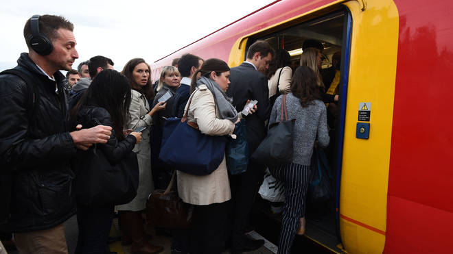 Only around two-thirds of trains arrived on time in 2019