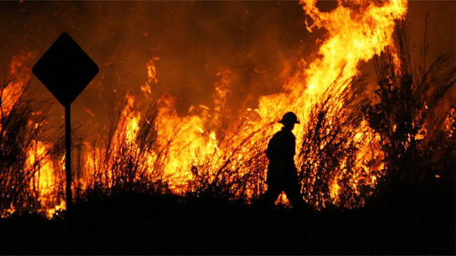 Firefighters tackled blazes across several states