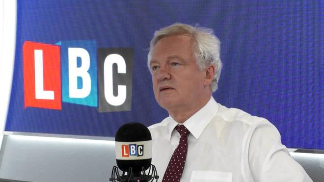 David Davis in the LBC studio.