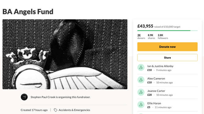 A fundraising page has raised almost £45,000 so far