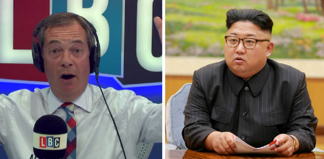 Nigel Farage and Kim Jong un