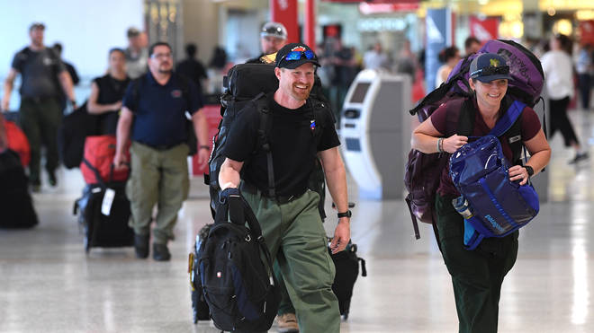 A team of 39 American firefighters arrived in Australia on Thursday to help with emergency efforts