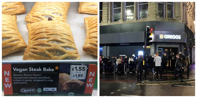 Dozens queued to try the new Greggs' steak bake in Newcastle