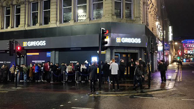 People queued for 20 minutes to try the snack in Newcastle