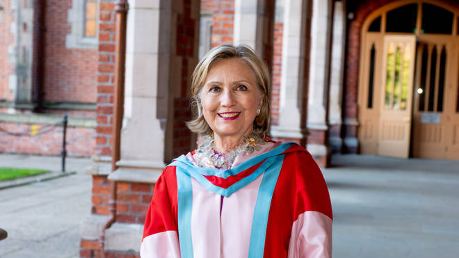 Hillary Clinton becomes the first female chancellor of the university