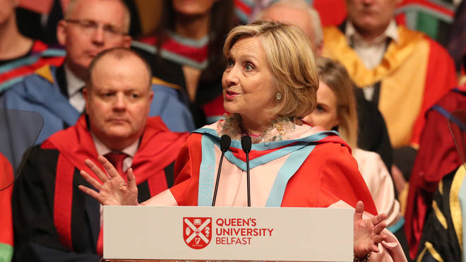 Ms Clinton was awarded an honorary degree at Queen's in October 2018