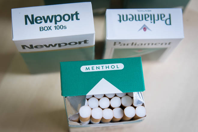 Menthol cigarettes will be banned to deter young people from taking up smoking