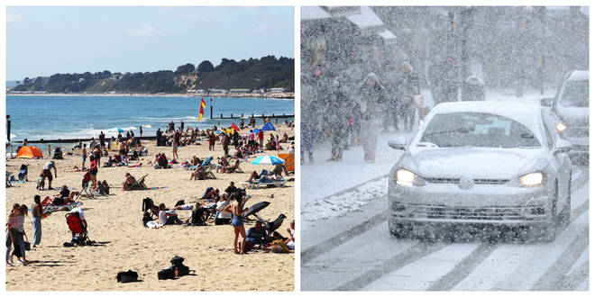 Warm weather set high-temperature records while the Beast from the East caused the coldest March day on record