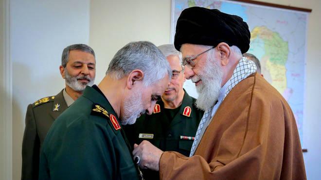 The General had a close relationship with Ayatollah Seyyed Ali Khamenei