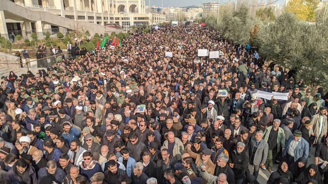 Protesters have gathered in Tehran
