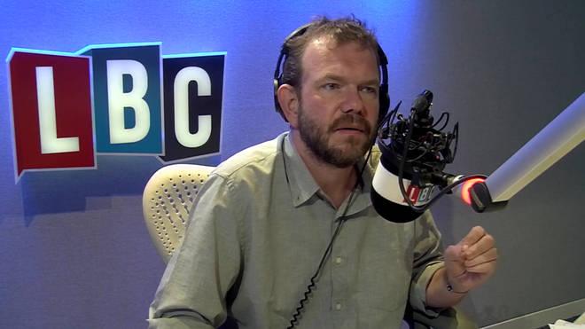 James O'Brien in the LBC studio