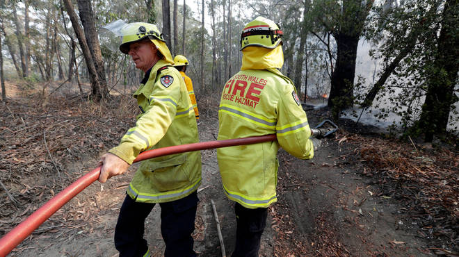 Firefighters have been battling the blazes for weeks