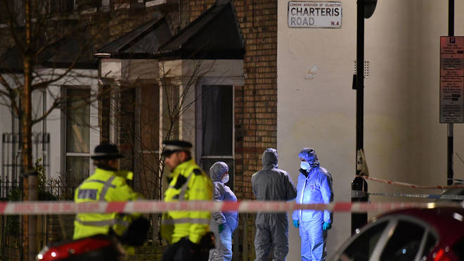 The delivery driver was found on Charteris Road in Finsbury Park, north London