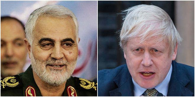 Boris Johnson is yet to comment on the escalating crisis with Iran