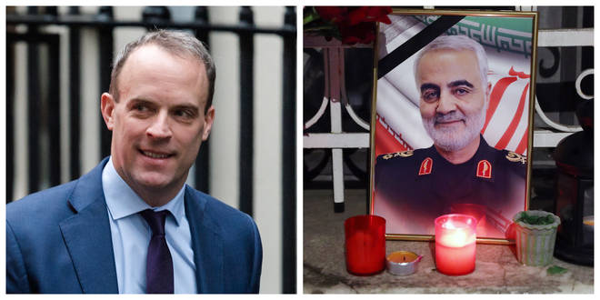 Dominic Raab defended the US over the killing of General Qassem Soleimani