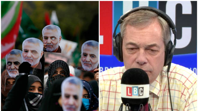 """Nigel Farage clashes with Iranian professor who calls the UK """"abnormal"""""""