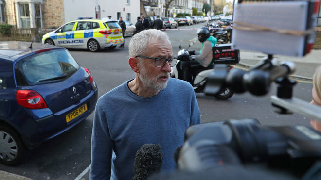 Jeremy Corbyn visited the scene of the crime