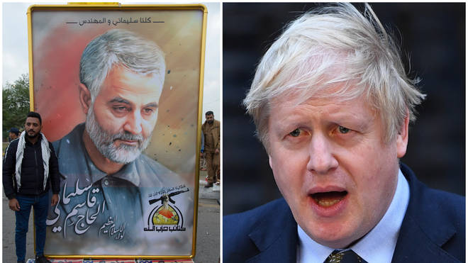 Boris Johnson finally responds to Iran crisis calling Qasem Soleimani 'a threat to all our interests'