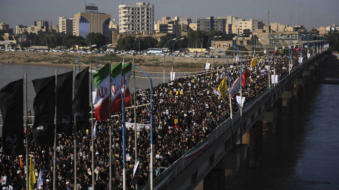 Thousands in Iran have protested Soleimani's death