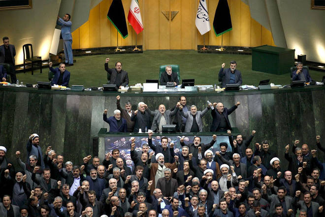 The Iraq parliament voted today to expel foreign military powers