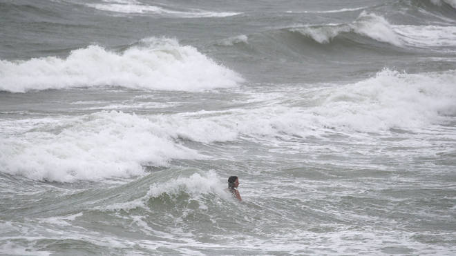 The public are warned to stay away from coastal areas due to heavy winds