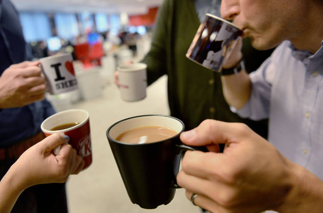 Coffees and teas can cost £114.96 a year