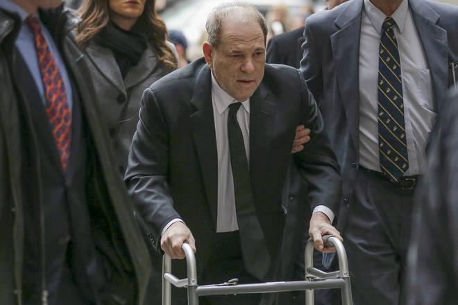 Harvey Weinstein arrives at federal court in New York
