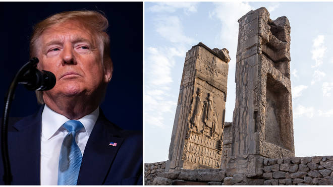 Donald Trump defended his threat to target Iranian cultural sites