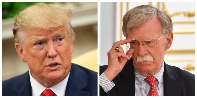 John Bolton (right) said he will testify in the impeachment trial if subpoenaed by the Senate