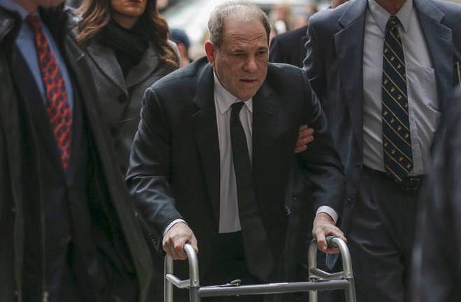 Harvey Weinstein arrives at federal court in New York.