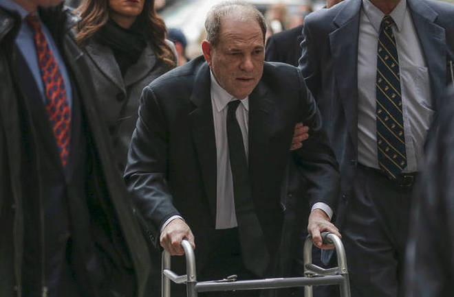 Harvey Weinstein arrives at federal court in New York.