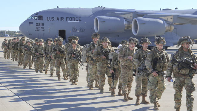 File photo: US troops in Baghdad are on the move