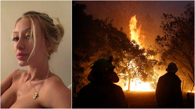 Ms Ward claims she was raising money to help victims of the Australian wildfires