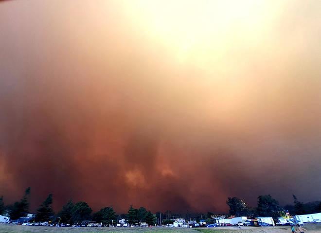 Bushfires in Australia on New Years Eve