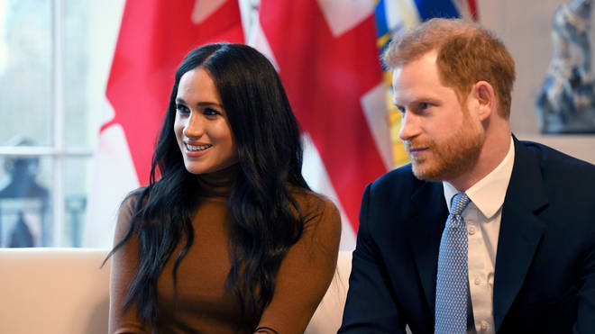 The couple visited Canada House on Tuesday