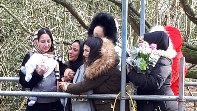 Mr Subhani's family visited the site where he was found on Tuesday