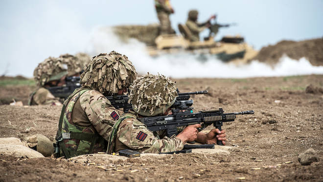 The defence secretary has said British forces are on standby to deploy to the region