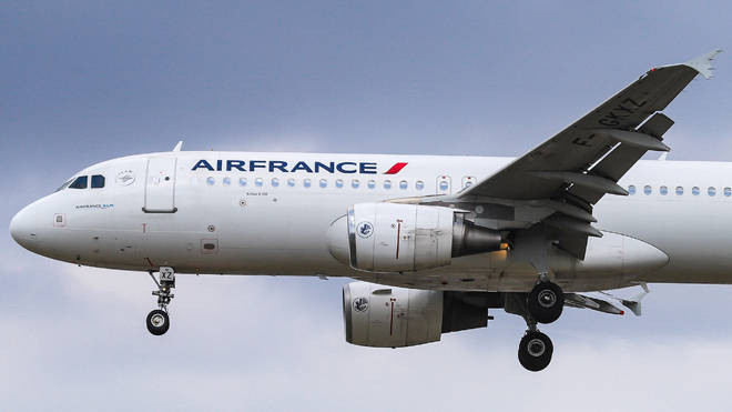 The child's body was found in the landing gear of the Air France plane