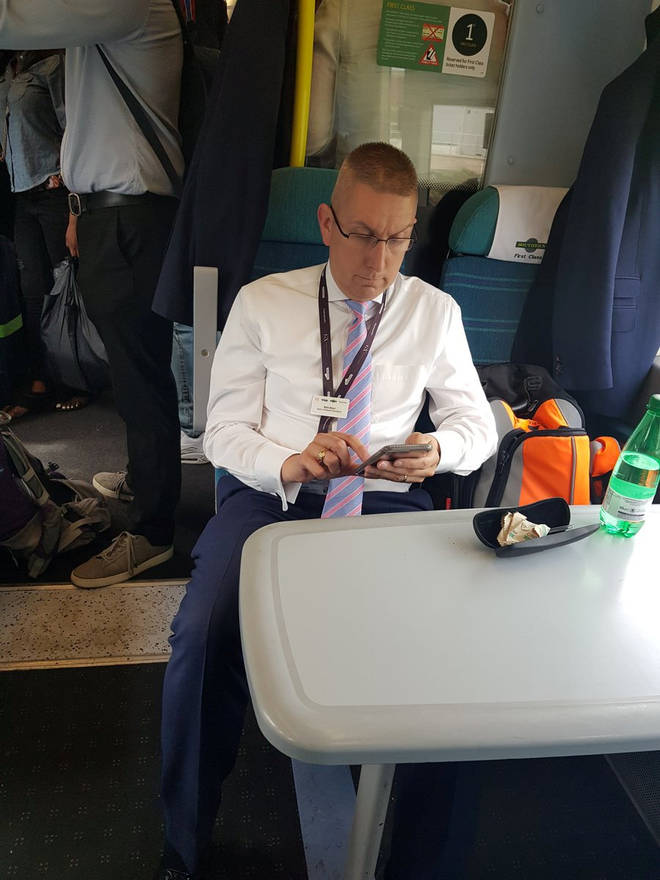 Train boss takes up two seats after kicking passengers out of first class
