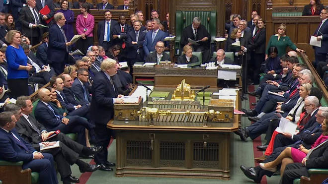 Boris Johnson addressed a packed House of Commons