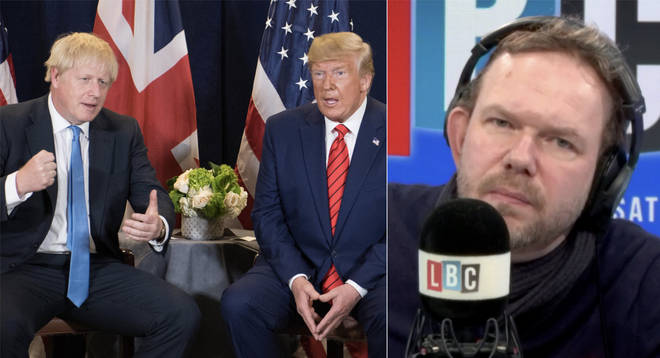 James O'Brien made a great point about Boris Johnson's reaction to Donald Trump's actions