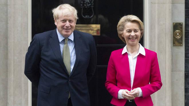 Boris Johnson meets European Commission President Ursula von der Leyen